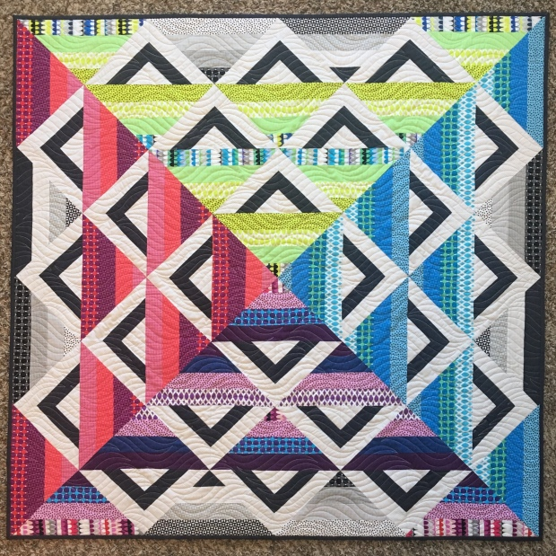 Paint Box Quilt Gridwork Fabric