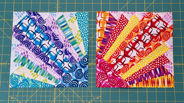 Pieced Primrose Blocks by Christa Watson