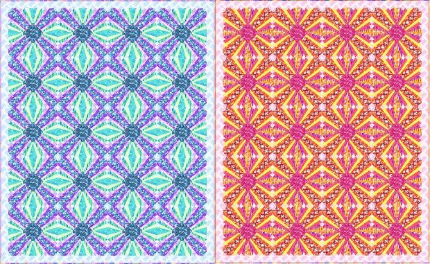 Pieced Primrose Quilt Throw Size
