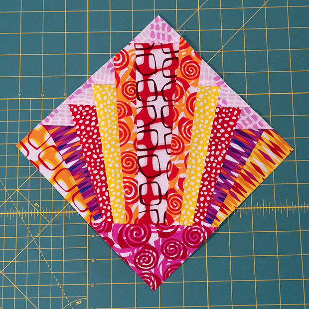 Pieced Primrose Warm Block