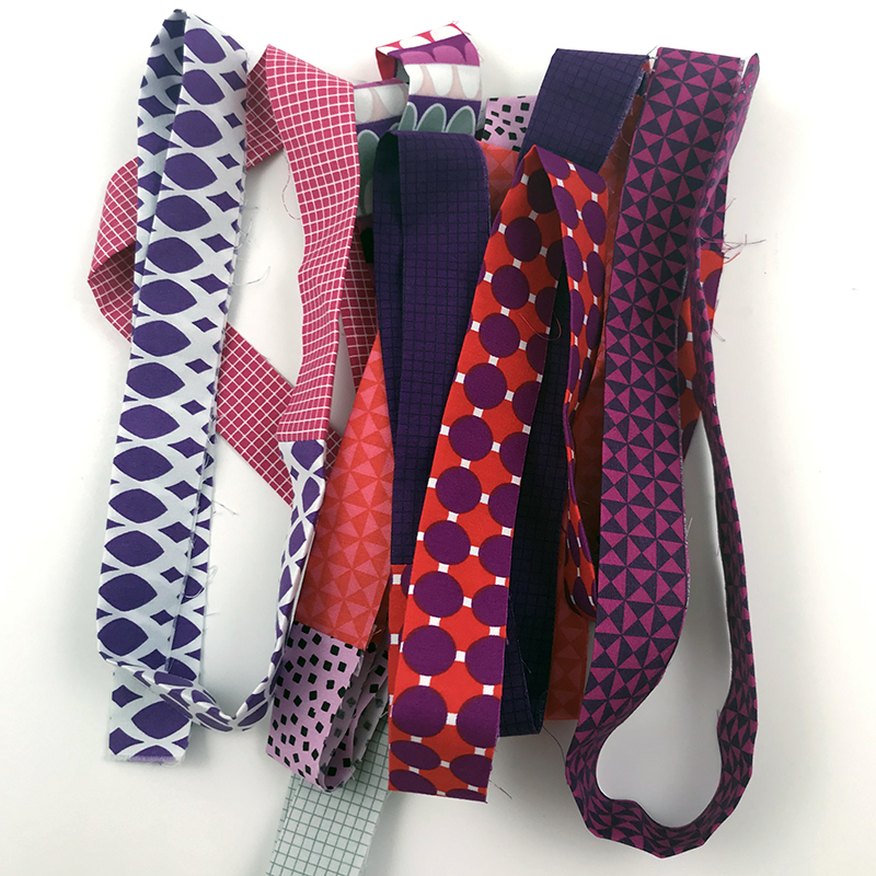 gridwork fabric scrappy binding
