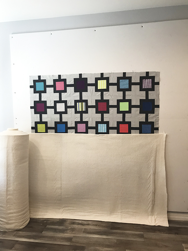 Block Chain quilt bating