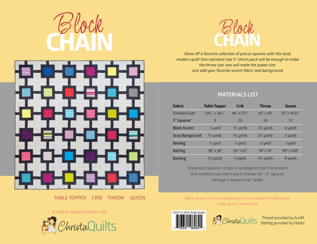 Block Chain quilt pattern