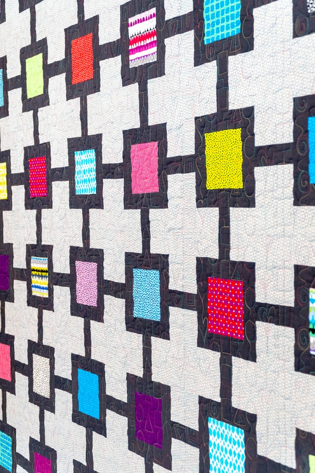 Block Chain Quilt by Christa Watson