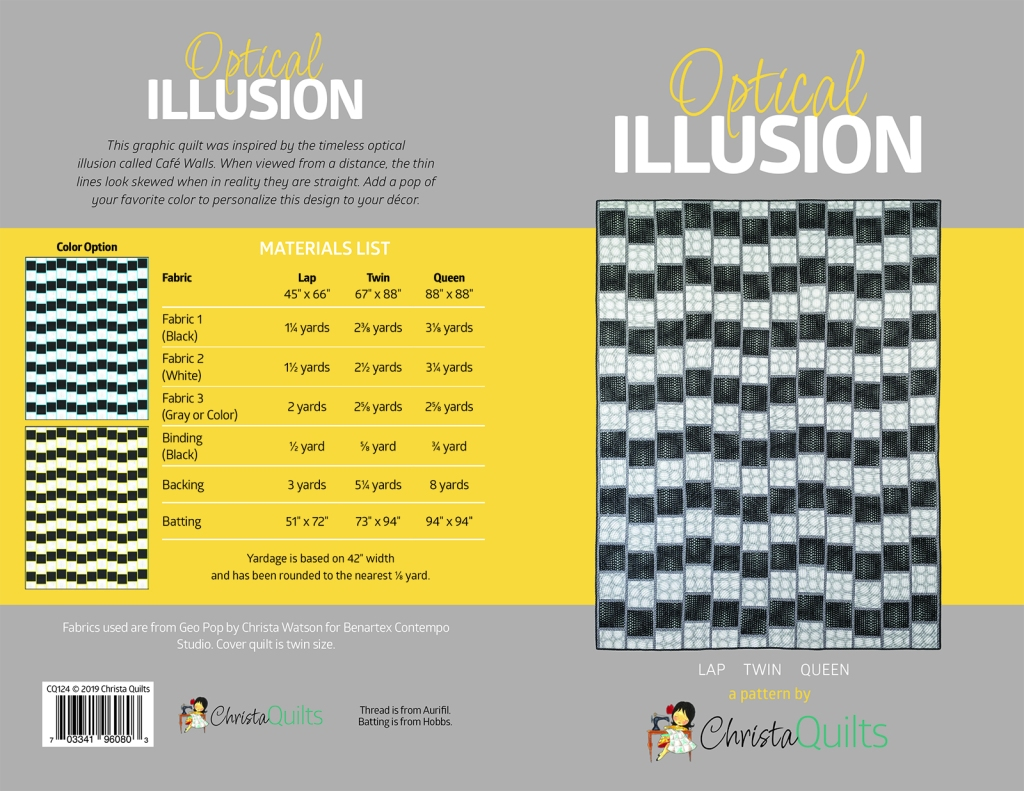 Optical Illusion Pattern Cover spread