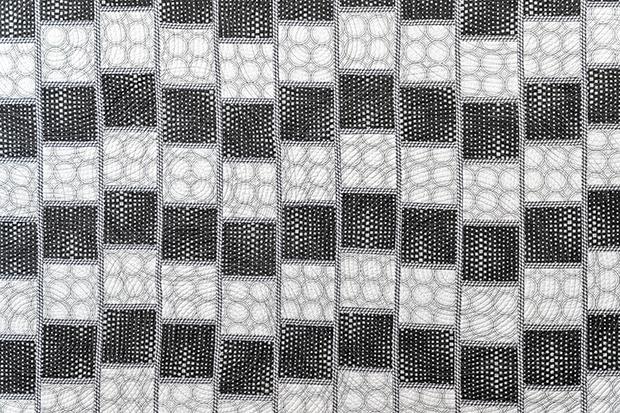 Optical Illusion Quilt Detail