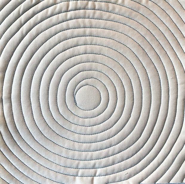 Machine Quilting Continuous Spirals