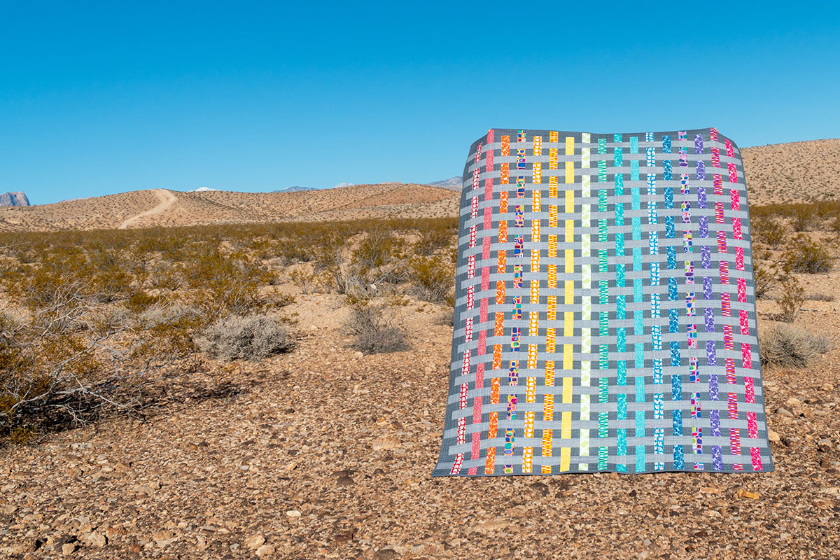 Color Weave quilt by Christa Watson