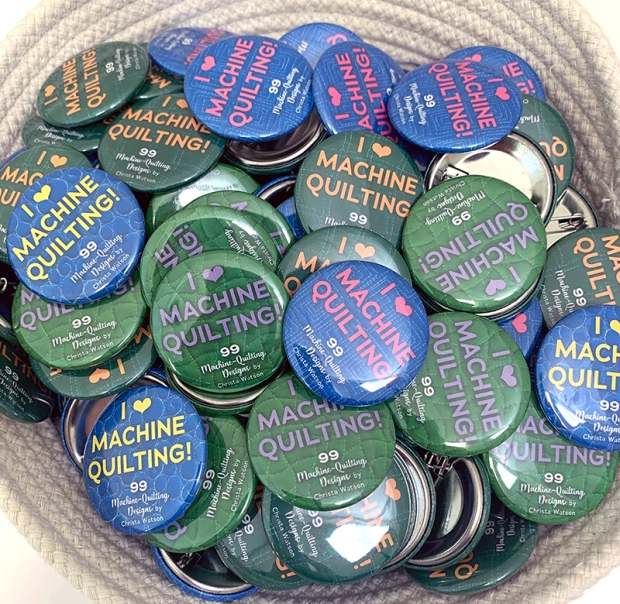 Machine Quilting buttons